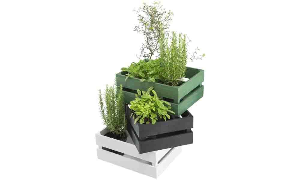 Förvara i trädgårdslådor från Åhléns