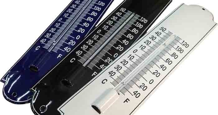 Emaljerade termometrar