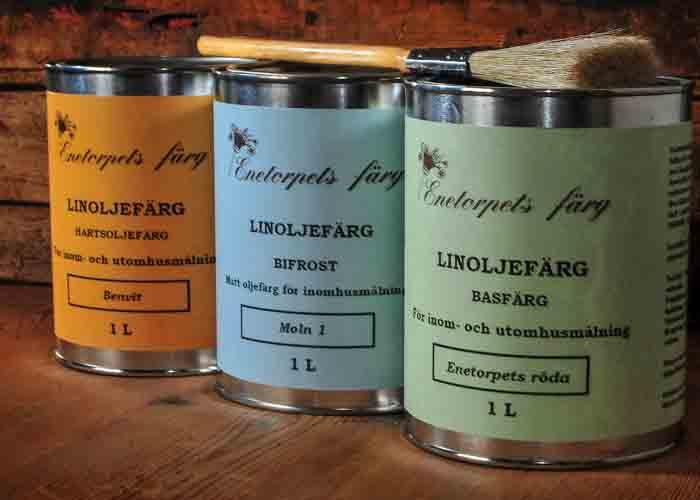 Klassisk linoljefärg från Enetorpets Byggnadsvård finns att få i många  vackra kulörer vid målning. Linoljefärgen har använts i århundranden och är  ... b97945adfa241