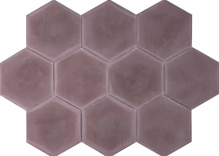 Cementplattor Hex Dark Purple