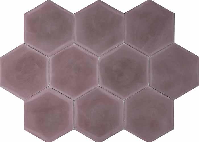 Cementplattor Hex Dark Purple