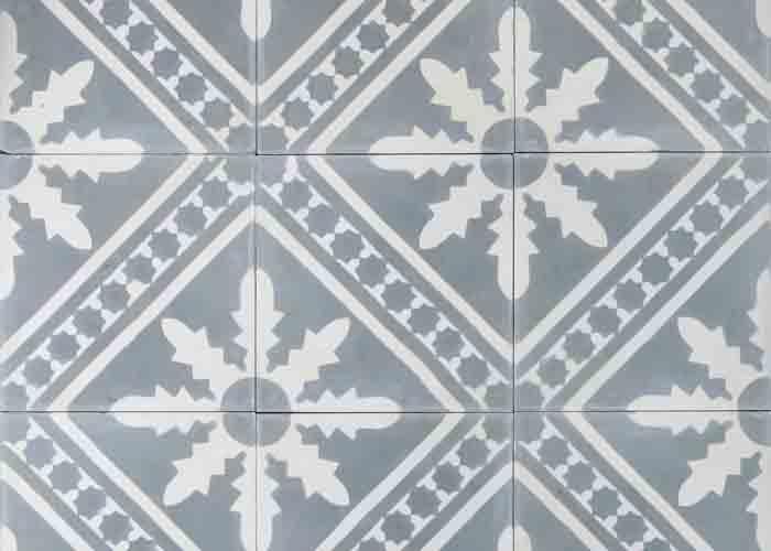 Cementplattan Palmblad från Marrakech Design