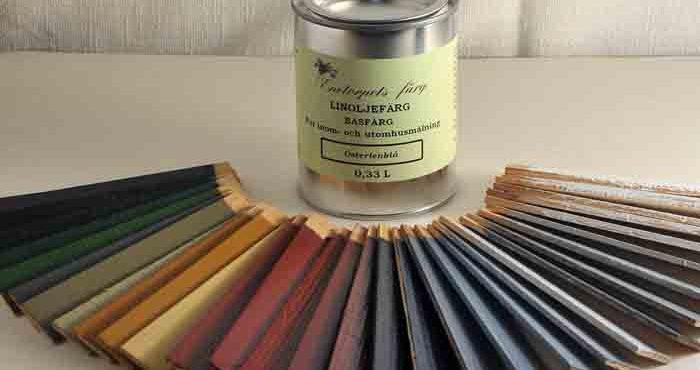 Måla möblerna med linoljefärg
