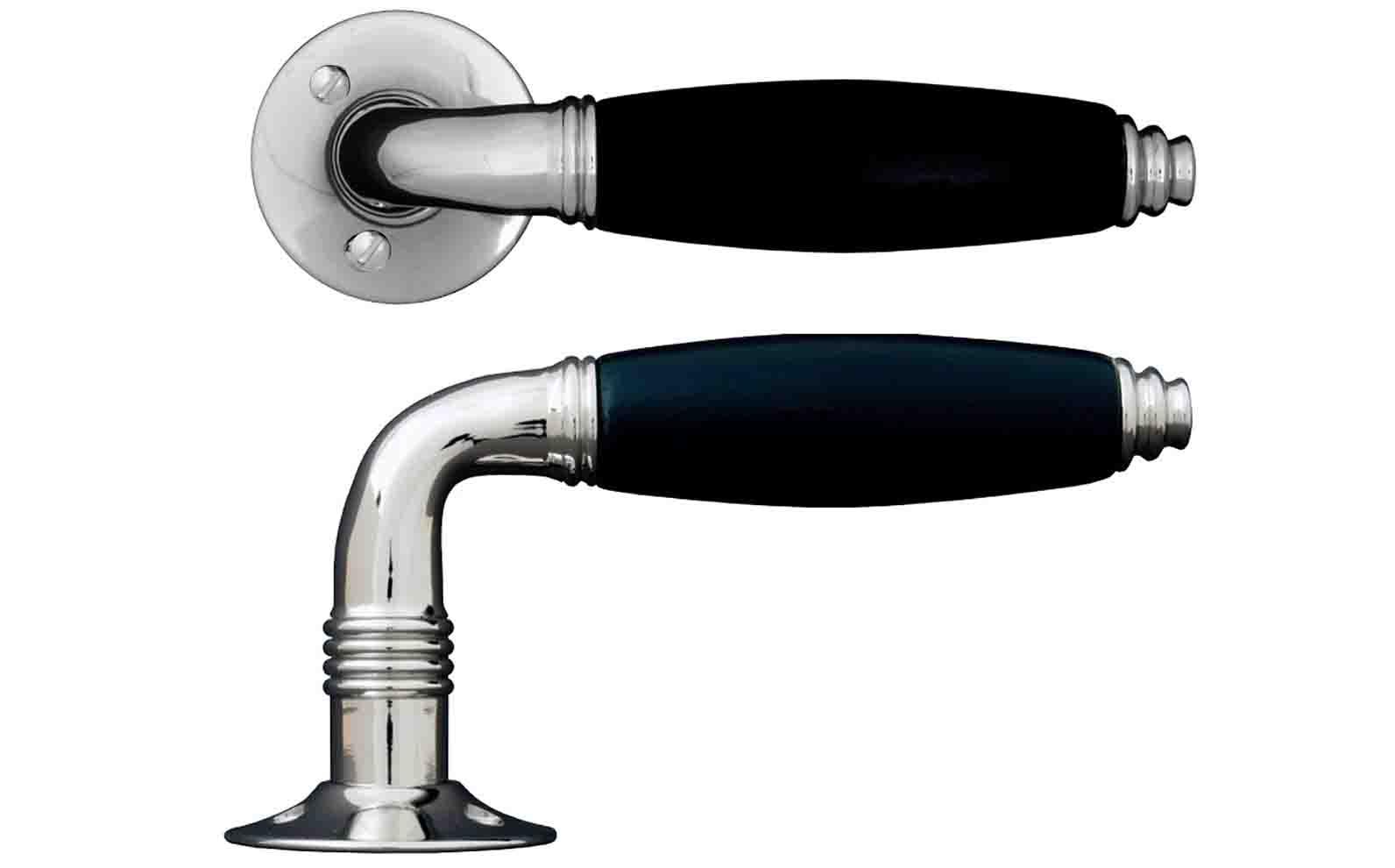 Sandgjutet och handpolerat dörrhandtag