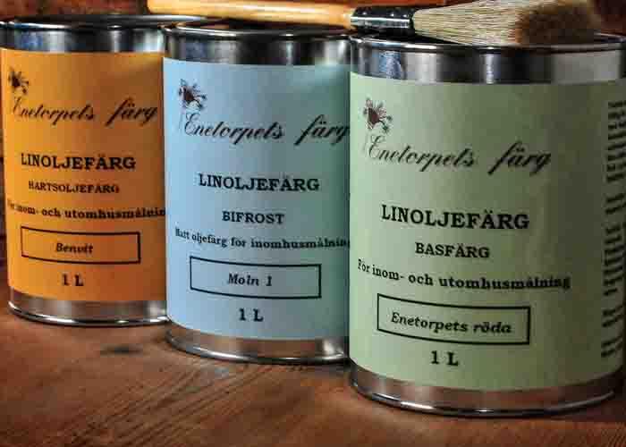 Linoljefärg från Enetorpets Färg