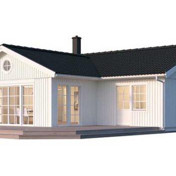 Villa Ängnö från Hudikhus