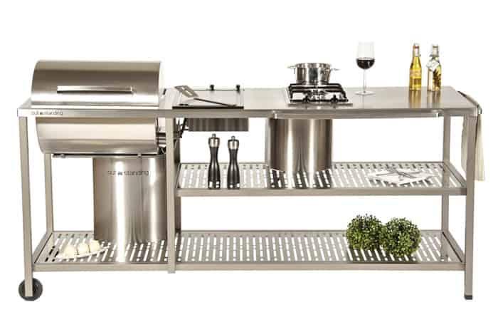 Utomhuskök i rostfritt stål