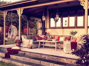 Stilfulla utemöbler för trädgården