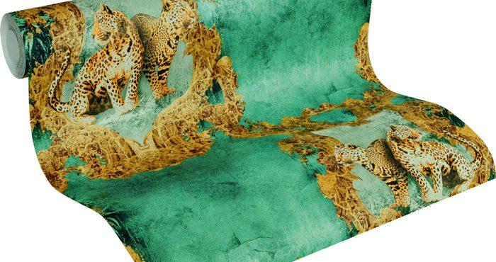 Tapeten As-Creation Medaljong Leopard
