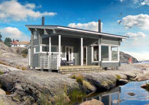 Bergsskiffer hus rymmer  sommarkänslor