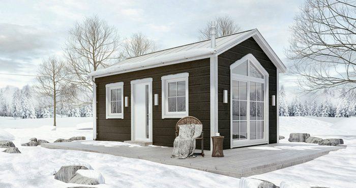 Attefallshuset Panoramafrån Fritidsvillan