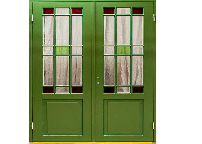 Allmogesnickeriers enkelglasade verandadörr