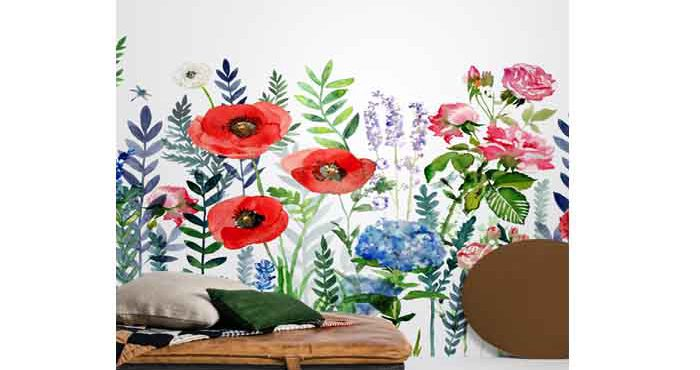 Tapetkollektionen Flowers & Aquarelle