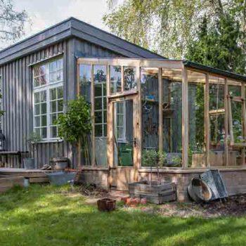 Bespoke Lean-to Cedar Greenhouse