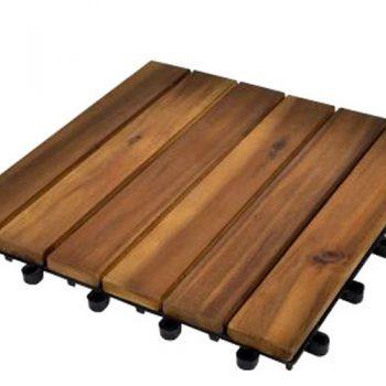 Balkongplattorna av akaciaträ